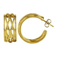 Marshelly's Jewelry Large Manic Hoop Earrings 18K Gold Plated
