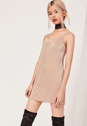 Missguided Petite Exclusive Pleated Cami Dress Pink Mauve