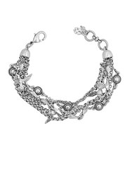 Lucky Brand Silvertone Layer Bird Bracelet