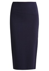 Pinko Zonzoli Pencil Skirt Dark Blue