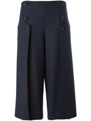 Cedric Charlier Button Front Trousers Blue