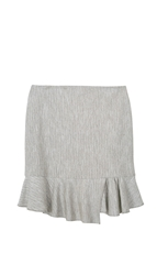 Tibi Daria Herringbone Mini Skirt
