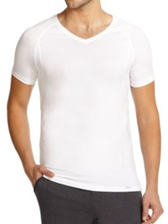Hanro Solid V Neck Tee White