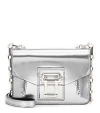 Proenza Schouler Hava Chain Metallic Leather Shoulder Bag Silver