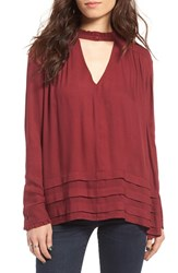 Sun And Shadow Women's Keyhole Blouse