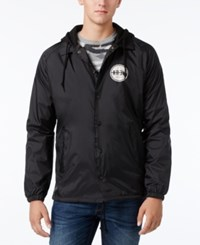 Kr3w Men's Koaches Graphic Print Logo Hooded Jacket Black