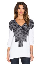 Bcbgeneration Patterned Sweater Black And White
