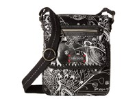Sakroots Artist Circle Small Flap Messenger Metallic Songbird Cross Body Handbags Black