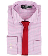 Lauren Ralph Lauren Non Iron Twill Classic Warren Pocket Shirt Pink White Multi Men's Long Sleeve Button Up