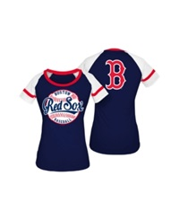 5Th And Ocean Women's Boston Red Sox Athletic Baseball T Shirt Navy
