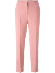 Ermanno Scervino Straight Tailored Trousers Pink Purple