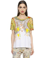 Etro Oversized Printed Cotton Jersey T Shirt