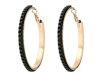 Guess Chain Wrapped Hoop Earrings Rose Gold Matte Jet Earring