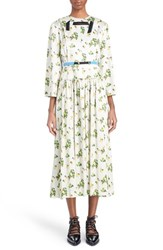 Women's Toga Floral Print Midi Length Dress