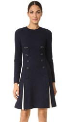 Cedric Charlier Wool Dress Navy