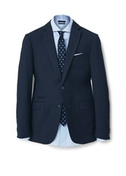 Mango Basilia Ticket Pocket Suit Blazer Navy
