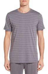 Daniel Buchler Men's Pima Cotton And Modal Crewneck T Shirt Grey Blue
