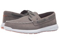 Sperry Sojourn Nubuck Grey Men's Lace Up Moc Toe Shoes Gray