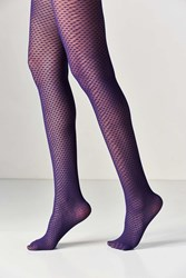 Urban Outfitters Diamond Net Tight Blue