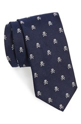 Vineyard Vines Men's Festive Skull And Crossbones Silk Tie