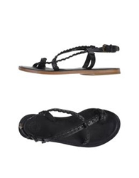 Buttero Thong Sandals Black
