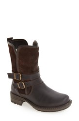 Bos. And Co. Women's 'Sahara' Buckle Strap Waterproof Bootie Dark Brown Coffee Leather
