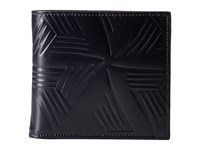 Marni Flower Embossed Leather Bifold Navy Wallet Handbags