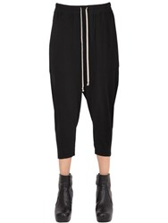 Rick Owens Drkshdw Cropped Jersey Jogging Pants