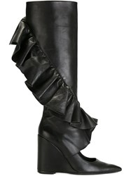 J.W.Anderson J.W. Anderson Wedge Ruffle Boots Black
