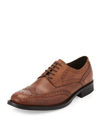 Kenneth Cole Mind Ur Step Wing Tip Oxford Cognac