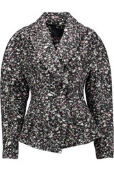 Proenza Schouler Printed Brushed Jacquard Jacket Charcoal