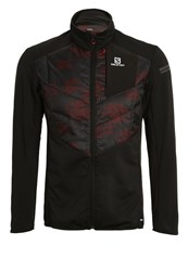 Salomon Park Warm Sports Jacket Black Briquex Dark Cloud