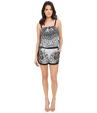 Hale Bob Salsa On The Beach Romper Grey Women's Jumpsuit And Rompers One Piece Gray