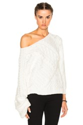 Baja East Cableknit Sweater In White