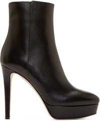 Jimmy Choo Black Leather Maggie Stiletto Boots