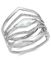 Inc International Concepts Multi Row Pointed Crystal Bangle Bracelet Only At Macy's Silver