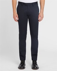 Acne Studios Navy Max Satin Cotton Trousers Blue