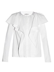 Lanvin Ruffled Long Sleeved Blouse White