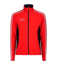 Armani Ea7 Contrast Striped Zip Jacket Male Red