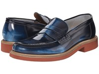 Doucal's Dante 1006Us6e Shade Blue Men's Slip On Shoes
