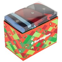 Burlington Sock Gift Box Pack Of 3 One Size Red Blue
