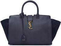 Saint Laurent Navy Small Cabas Monogram Bag