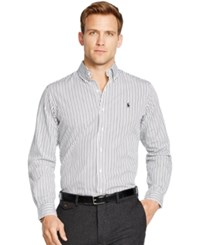 Polo Ralph Lauren Bengal Striped Poplin Shirt White Black