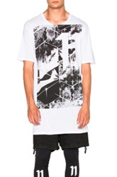 11 By Boris Bidjan Saberi Short Sleeve Printed Logo Tee In White