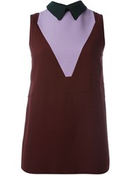 Marni Colour Block Sleeveless Top Red