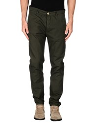 M.Grifoni Denim Trousers Casual Trousers Men Dark Green