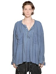 Faith Connexion Oversized Light Denim Shirt