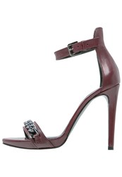 Mai Piu Senza High Heeled Sandals Passion Bordeaux