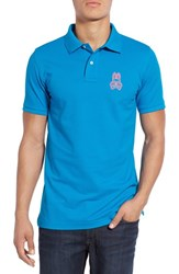 Psycho Bunny Men's 'Alto Bunny' Pima Cotton Pique Polo Spartan Blue
