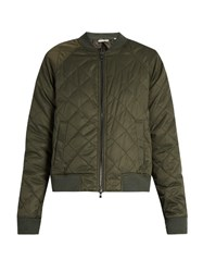 Vince Quilted Zip Through Bomber Jacket Khaki